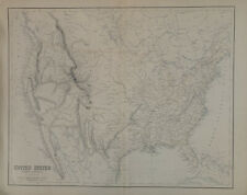 More details for 1859 united states large original antique map by g.h. swanston & fullarton