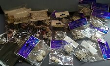 Joblot New Diamonte, Faux Pearl Corsage Pins And Brooches. Floristry