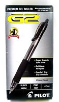 Pilot G2 Retractable Premium Gel Ink Roller Ball Pens, 12 Fine Point, Black Ink