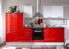 Wexford Red Küchenzeile Küchenblock Rot Hochglanz