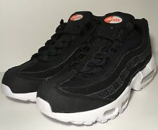SZ.8 NIKE AIR MAX 95 PREMIUM SE 924478-001 BLACK/BLACK.WHITE.TEAM.ORNAGE