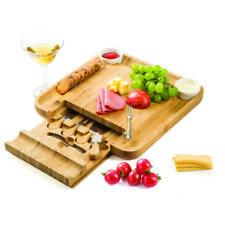 Set degustazione formaggi con vassoio tagliere in legno bamboo coltelli  ciotole