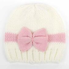 Newborn Baby Girl Boy Infant Toddler Bow Knit Crochet Hat Winter Warm Beanie
