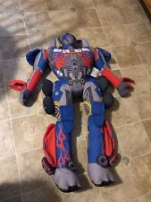 "TRANSFORMERS Optimus Prime Plush Movie Doll 30"" Hasbro RARE LARGE CLEAN 2007"