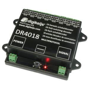Digikeijs 4018 Schaltdecoder DCC/MM 16x Ausgänge Digikeijs DR4018 NEU OVP°