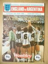 INTERNATIONAL MATCH 1980- ENGLAND v ARGENTINA- A TOUCH OF GOLD
