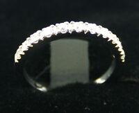 0.26 Diamond Wedding Ring Band Guard 14k White Gold Anniversay Enhancer