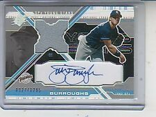 SEAN BURROUGHS  AUTO JERSEY 2003 SPX YOUNG STARS #/1295