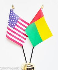United States of America & Guinea-Bissau Double Friendship Table Flags