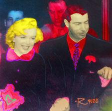 RINGO, Steve Kaufman assistant - MARILYN & JOE (Pink) - Embellished Screenprint