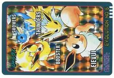 POKEMON BANDAI 97/98 JAPANESE POCKET MONSTERS N° 5 EEVEE FLAREON JOLTEON HOLO