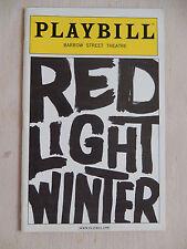 January 2006 - Barrow Street Theatre Playbill - Red Light Winter - Denham