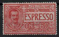 1922 REGNO ESPRESSO N°7 CENT.60 OTTIMA CENTRATURA G.I.**