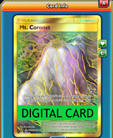 Mt. Coronet Secret Rare Full Art SV89/SV94 PTCGO Online Digital Card