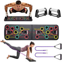 Push Up Rack Board Fitness Workout Train Gym Muscle Exercise Pushup Stands