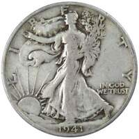 1941 S Liberty Walking Half Dollar F Fine 90% Silver 50c US Coin Collectible