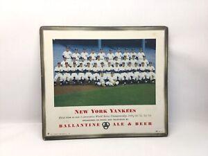 1954 New York Yankees Ballantine Beer World Series Masonite Sign