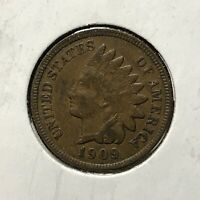 1909 1c INDIAN HEAD CENT *NICE VERY FINE / EXTRA FINE COIN* LOT#AI73