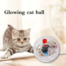 Plastic Pet Cat Kitten Light Up Flashing Ball Interactive Toy Moving Funny Toys