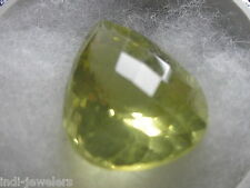 BEAUTIFUL 30CT PEAR SHAPE  NATURAL LEMON TOPAZ GEM STONE FROM MADAGASKAR