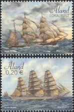 Aland 2017 Sailing Ships/Boats/Nautical/Sail/Transport/Commerce 2v set (af1036)