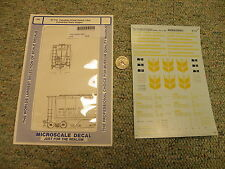 Microscale decals HO 87-718 Canadian Wheat Board 4 bay cylind grain hoppers  L2