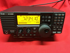 ICOM IC-R75 COMMUNICATIONS RECEIVER WITH AC ADAPTER AND BOX
