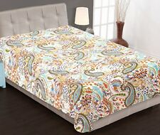Indian Bed Cover Twin Cotton Printed Quilt Blanket Paisley Kantha Quilts Throw