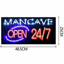 Flashing Led Open Shop Sign Display Window Hanging Signs Business MANCAVE Pub