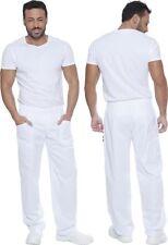 Pantalones De Chef Monos Pantalones Cocinero Hombre Mujer Cocina Algodón Blanco