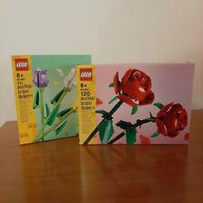 LEGO CREATOR 40460 40461 ROSE E TULIPANI FIORI BOUQUET - BOTANIC - NUOVO - MISB