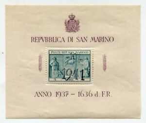 SAN MARINO 1937 Mint SHEET with +10L 1941 Surcharge