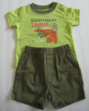 New BABYBOOTS Size 16 Lb / 6 Months Green Short Sleeve Shirt & Shorts