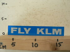 STICKER,DECAL KLM FLY KLM AIRLINE AIRPLANE 18 CM BB