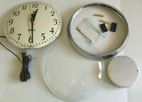 Vintage Sunbeam Electric LARGE Wall Clock Retro C004 *PARTS ONLY*NOT WORKING*