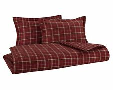 FLANNEL REVERSIBLE DUVET COVER SET by DELANNA Red Plaid