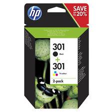 Genuine Original HP 301 Combo Black & Colour Ink For Deskjet 2540 3050A N9J72AE