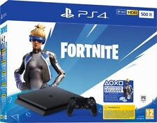 Sony Playstation 4 PS4 500GB F Slim HDR + Voucher Fortnite (VCH) Console ITALIA