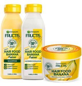 Garnier Fructis Hair Food Banana Complete Routine