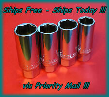 "Craftsman 3/8"" Drive 4pc Spark Plug Socket Set Metric SAE 18mm, 5/8, 3/4, 13/16"