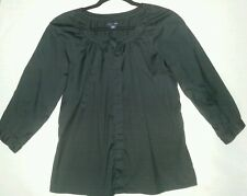 TOMMY HILFIGER BLACK BLOUSE BUTTON DOWN COTTON size M CORPORATE TOP