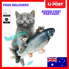 Electric Dancing Fish Cat Flippity Toy Wagging Realistic Flipping Kitty Flip USB