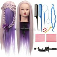 27'' Salon Human Hair Training Head Hairdressing Styling Mannequin Doll + Clamp