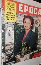 EPOCA 18 aprile 1953 Maria Pia di Savoia Edith Piaf Circo Togni Portofino Tito