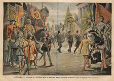 "BRUXELLES "" DEFILE HISTORIQUE INDEPENDANCE BELGE "" ILLUSTRATION DAMBLANS 1905"
