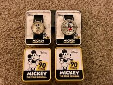 Disney Mickey Mouse 90th Anniversary Commemorative Wrist Watch Man & Woman Set