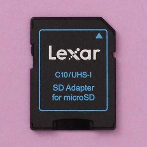 Genuine Lexar Micro SD (MicroSD) to SD Memory Card Adapter C10/UHS-I