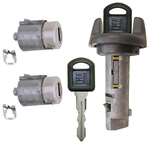 GM OEM Ignition Key Switch Lock Cylinder & Door Lock Tumbler Set 2 GM Keys