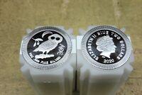 Niue , 1 Unze Silber , Two Dollars , Eule von Athen , Auswahl aus 2017 / 2021