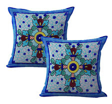 Us Seller-home interior decoration 2pcs talavera Mexican Spanish cushion cover